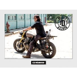 ART PRINT 30X40 THE WALKING DEAD DARYL BIKE
