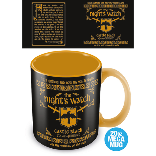 TAZA MEGA GAME OF THRONES NIGTHS WATCH