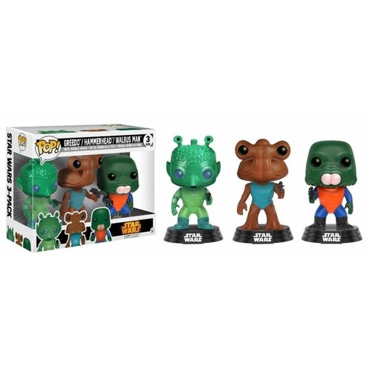 POP VINYL STAR WARS 3 PACK GREEDO HAMMERHEAD WALRUS MAN