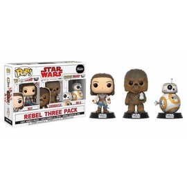 POP VINYL STAR WARS 3 PACK THE LAST JEDI GOOD GUYS