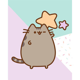 CANVAS 20X25 CM PUSHEEN THE CAT STARS