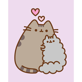 CANVAS 20X25 CM PUSHEEN THE CAT FRIENDS