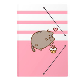 CARPETA GOMAS A4 POLIPROPILENO PUSHEEN ROSE COLLECTION