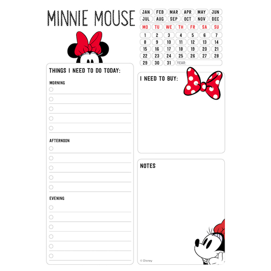 BLOC NOTAS DE ESCRITORIO MINNIE MOUSE ROCKS THE DOTS
