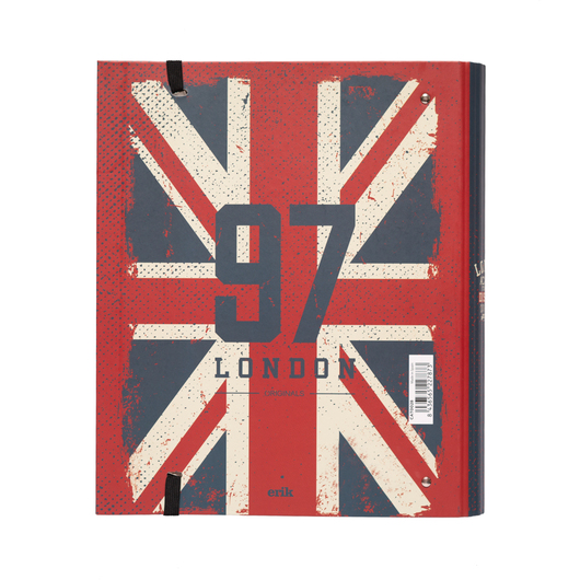 CARPETA 4 ANILLAS TROQUELADA PREMIUM LONDON COLOUR