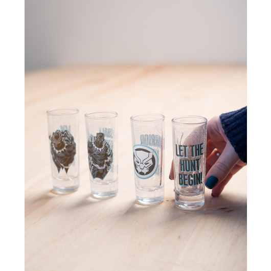 SET 4 VASOS CHUPITO MARVEL BLACK PANTHER