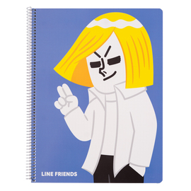 CUADERNO TAPA POLIPROPILENO A4 5X5 MICROPERFORADO LINE FRIENDS