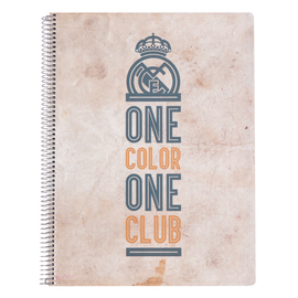 CUADERNO TAPA POLIPROPILENO A4 5X5 MICROPERFORADO REAL MADRID VINTAGE COLLECTION