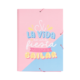 CARPETA SOLAPAS CAROUGE BLUE & PINK