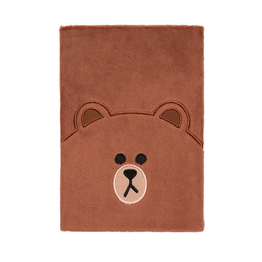 CUADERNO FELPA A5 LINE FRIENDS BROWN