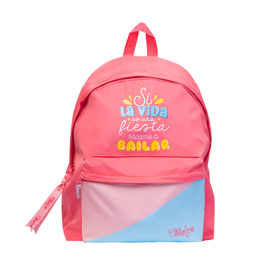 MOCHILA CAROUGE BLUE & PINK
