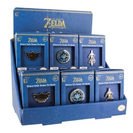 DISPLAY 18 PINS THE LEGEND OF ZELDA ENAMEL