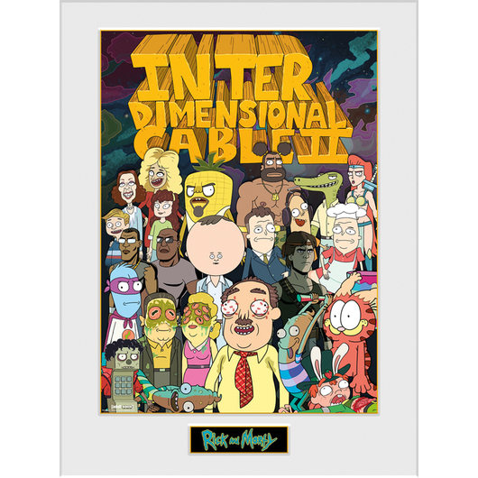 ART PRINT 30X40 RICK & MORTY INTER DIMENSIONAL
