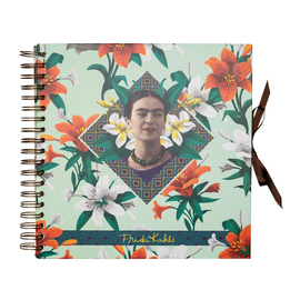 SCRAPBOOK ALBUM FOTO 26X26CM 40 PAGINAS FRIDA KAHLO