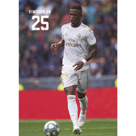 POSTAL REAL MADRID 2019/2020 VINICIUS JR ACCION