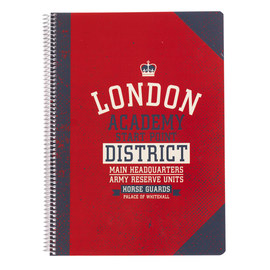 CUADERNO TAPA POLIPROPILENO A4 4X4 LONDON COLLEGE