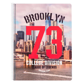 CUADERNO TAPA POLIPROPILENO A4 5X5 MICROPERFORADO NEW YORK 1986