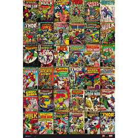 POSTER MARVEL COMICS CLASSIC COVERS