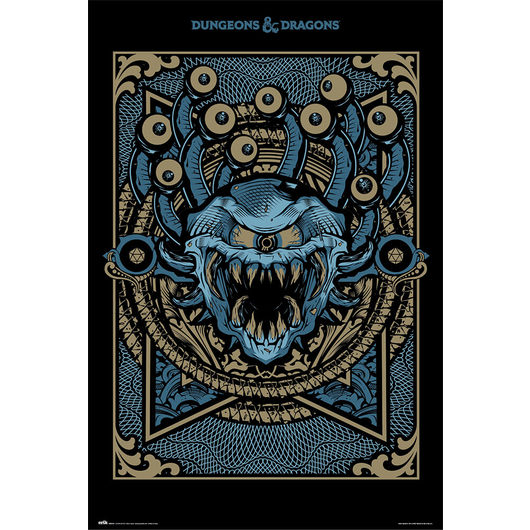POSTER DUNGEONS & DRAGONS MONSTER MANUAL