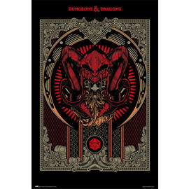 POSTER DUNGEONS & DRAGONS PLAYER'S HANDBOOK