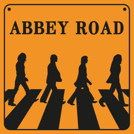 PRINT 30X30 CM ABBEY ROAD SIGN