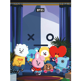 PRINT 30X40 CM BT21 ALL CHARACTERS