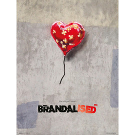 PRINT 30X40 CM BRANDALISED BANDAGED HEART