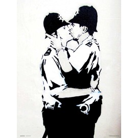 PRINT 30X40 CM BRANDALISED BOBBIES KISSING