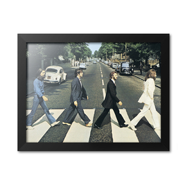 PRINT ENMARCADO 30X40 CM THE BEATLES - ABBEY ROAD