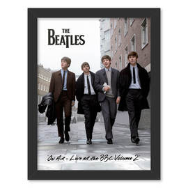 PRINT ENMARCADO 30X40 CM THE BEATLES ON AIR 2013