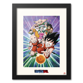 PRINT ENMARCADO 30X40 CM DRAGON BALL TEAM