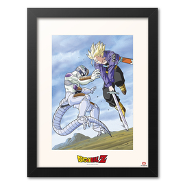 PRINT ENMARCADO 30X40CM DRAGON BALL TRUNK VS FREEZER