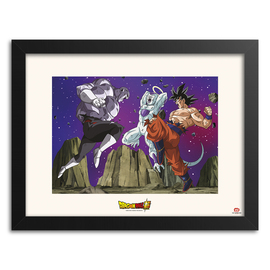 PRINT ENMARCADO 30X40CM DRAGON BALL SUPER BEATIN JIREN