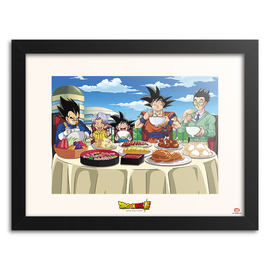 PRINT ENMARCADO 30X40CM DRAGON BALL SUPER UNIVERSE FEAST