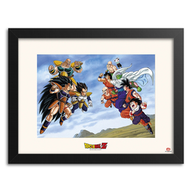 PRINT ENMARCADO 30X40CM DRAGON BALL Z BATTLE OF SAIYANS