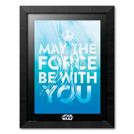 PRINT ENMARCADO 30X40 CM STAR WARS EPISODIO IX MAY THE FORCE BE WITH YOU
