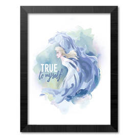 PRINT ENMARCADO 30X40 CM DISNEY FROZEN II ELSA & HORSE TRUE TO MYSELF
