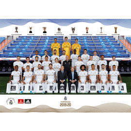 POSTAL REAL MADRID 2019/2020 A5 PLANTILLA