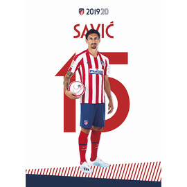POSTAL ATLETICO DE MADRID 2019/2020 SAVIC