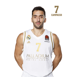 POSTAL REAL MADRID BALONCESTO 2019/2020 CAMPAZZO