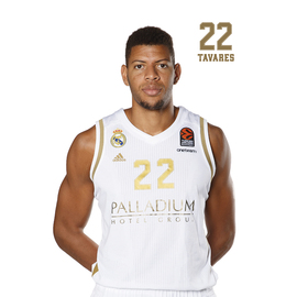 POSTAL REAL MADRID BALONCESTO 2019/2020 TAVARES
