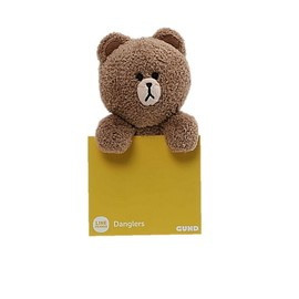 PELUCHE LINE FRIENDS BROWN DANGLER 6