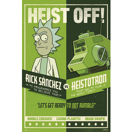 POSTER RICK & MORTY SEASON 4 HEIST OFF