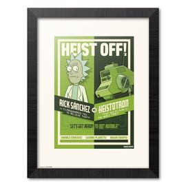 PRINT ENMARCADO RICK & MORTY SEASON 4 HEIST OFF