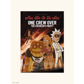 PRINT 30X40CM RICK & MORTY SEASON 4 ONE CREW