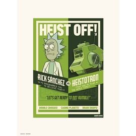 PRINT 30X40CM RICK & MORTY SEASON 4 HEIST OFF