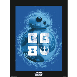 PRINT 30X40 CM STAR WARS EPISODIO IX BB-8 BLUE