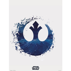 PRINT 30X40 CM STAR WARS EPISODIO IX REBEL LOGO