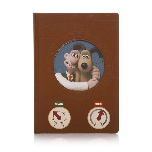 CUADERNO A5 AARDMAN WALLACE & GROMIT INVENTOR'S