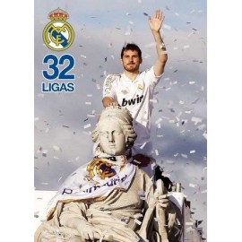 Postal Real Madrid Casillas En Cibeles Futbol